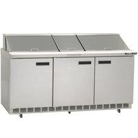 Delfield 4472N-30M 72 inch 3 Door Mega Top Refrigerated Sandwich Prep Table