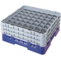 Cambro 49S1114168 Blue Camrack 49 Compartment 11 3/4 inch Glass Rack