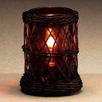 Sterno Products 85238 4 inch x 5 1/2 inch Brown Wicker Lamp Base