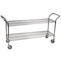 "Regency 24"" x 60"" Two Shelf Chrome Heavy Duty Utility Cart"