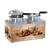 Nemco 6510A-2D4P Double Well 4 Qt. Soup Warmer, 120V, 1000W