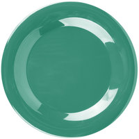 "Carlisle 3301209 Sierrus 9"" Meadow Green Wide Rim Melamine Plate - 24/Case"