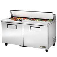 True TSSU-60-16 60 inch Two Door Sandwich / Salad Prep Refrigerator - 16 Pans