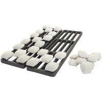 Globe CHARRACK-KIT Charbroiler Kit with (2) 6 inch Racks and 30 Rocks for Globe Charbroilers