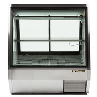 True TDBD-48-2 48 inch Two Door Double Duty Refrigerated Deli Case - 28 Cu. Ft.