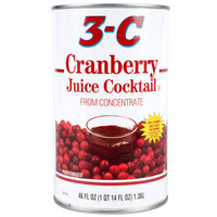 Canned Cranberry Juice Cocktail 12 - 46 oz. Cans / Case