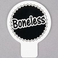Deli Tag Topper - BONELESS - Black