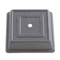 Cambro 978SFVS191 Versa Camcover 10 inch Granite Gray Square Plate Cover - 12/Case