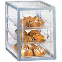 Cal-Mil 253-S Three Tier Aluminum Display Case with Front Door - 18 inch x 11 3/4 inch x 17 1/2 inch