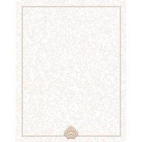 8 1/2 inch x 11 inch Menu Paper - Tan Shell Border - 100/Pack
