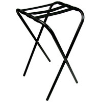"Lancaster Table &amp&#x3b; Seating 36"" Folding Tray Stand Black Metal"