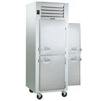 Traulsen G10003P 1 Section Solid Half Door Pass-Through Refrigerator - Right / Left Hinged Doors