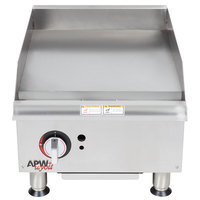APW Wyott GGM18i 18 inch Countertop Griddle - 37,500