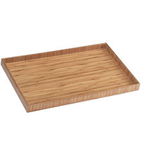 Cal-Mil 1367-10-60 12 inch x 9 3/4 inch Bamboo Tray