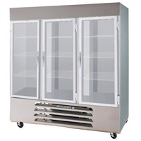 Beverage-Air HBF72-5-G-LED Horizon Series 75 inch Glass Door Reach-In Freezer with LED Lighting