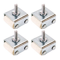 True 872068 1 inch Roller Casters - 4/Set