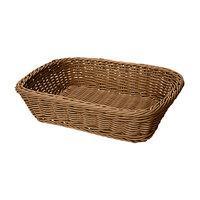GET WB-1508-H 11 1/2 inch x 8 1/2 inch x 2 3/4 inch Designer Polyweave Honey Rectangular Basket - 12/Case