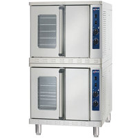 Alto-Shaam 2-ASC-4G / STK Natural Gas Platinum Series Stacked Full Size Gas Convection Ovens with Manual Controls - 100,000 BTU