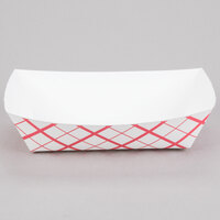 #500 5 lb. Red Check Paper Food Tray - 500 / Case