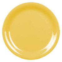 Thunder Group CR106YW 6 1/2 inch Yellow Narrow Rim Melamine Plate - 12/Pack