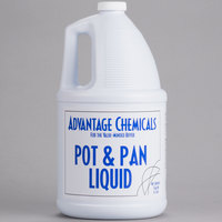 Advantage Chemicals 1 gallon / 128 oz. Pot & Pan Liquid Detergent - 4/Case