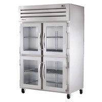 True STA2R-4HG Specification Series Glass Half Door Reach In Refrigerator - 56 Cu. Ft.