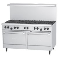 Garland SunFire Series X60-10RR Natural Gas 10 Burner 60 inch Gas Range with Two Standard Ovens - 366,000 BTU