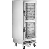 ServIt CC1UFICD Full Size Insulated Holding and Proofing Cabinet with Clear Dutch Doors - 120V, 2000W