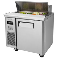Turbo Air JST-36 36 inch 1 Door Side Mount Compressor Refrigerated Sandwich Prep Table
