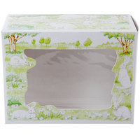 Southern Champion 2491 7 1/2 inch x 5 inch x 10 inch Window Bakery Box with Easter Design   - 100/Bundle