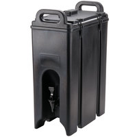 Cambro 500LCD110 Camtainers® 4.75 Gallon Black Insulated Beverage Dispenser