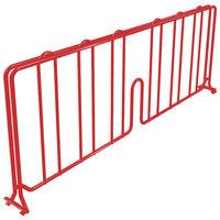 Metro DD14-DF 14 inch Flame Red Wire Shelf Divider
