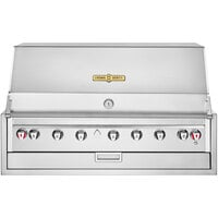 Crown Verity IBI48NG Infinite Series Natural Gas 48 inch Built-In Grill with Roll Dome, Bun Rack, Custom Fitted Cover, and Regulator - 98,000 BTU