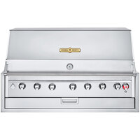 Crown Verity IBI42LP Infinite Series Liquid Propane 42 inch Built-In Grill with Roll Dome, Bun Rack, Custom Fitted Cover, and Regulator - 84,000 BTU