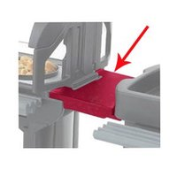 Cambro VCS32CNT158 Hot Red Connector for Connecting Versa Carts to Versa Food Bars / Work Tables