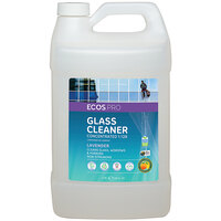 ECOS PL9963/04 Pro 1 Gallon Concentrated Lavender Scented Glass Cleaner - 4/Case