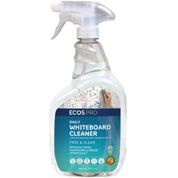 ECOS PL9869/6 Pro 32 oz. Free and Clear Daily Whiteboard Cleaner Spray Bottle - 6/Case