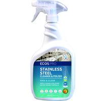 ECOS PL9330/6 Pro 32 oz. Stainless Steel Cleaner & Polish Spray Bottle - 6/Case