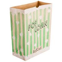 Bagcraft Packaging 300613 7 1/2 inch x 3 1/2 inch x 9 inch 130 oz. EcoCraft Popcorn Bag - 500/Case