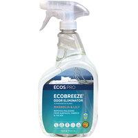 ECOS PL9839/6 Pro EcoBreeze 32 oz. Magnolia and Lily Scented Odor Eliminator Spray Bottle - 6/Case