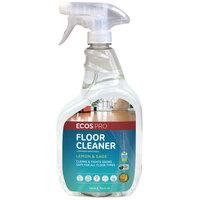 ECOS PL9725/6 Pro 32 oz. Lemon and Sage Scented Floor Cleaner Spray Bottle - 6/Case