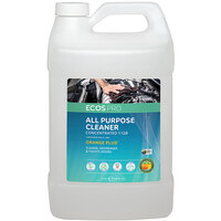 ECOS PL9748/04 Pro 1 Gallon Orange Plus Scented All-Purpose Cleaner and Degreaser - 4/Case