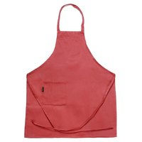 Chef Revival 601BAC-RD Customizable Full-Length Red Bib Apron - 30 inchL x 34 inchW