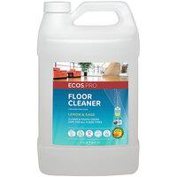 ECOS PL9725/04 Pro 1 Gallon Lemon and Sage Scented Floor Cleaner - 4/Case