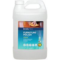 ECOS PL9731/04 Pro 1 Gallon Lemon Scented Furniture Polish - 4/Case