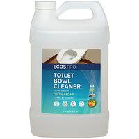 ECOS PL9703/04 Pro 1 Gallon Fresh Cedar Scented Toilet Bowl Cleaner - 4/Case