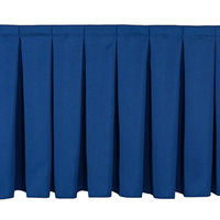 National Public Seating SB8-96 Navy Box Stage Skirt for 8 inch Stage - 96 inch Long