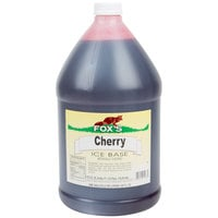Fox's 1 Gallon Cherry Italian Ice Syrup Base - 4/Case