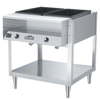 Vollrath 38002 ServePan Electric Two Pan Hot Food Table 120V - Sealed Well