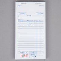 Choice 3 Part White Carbonless Order Delivery Form - 50/Case